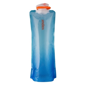 Vapur 1.5 Liter (50oz) Collapsible Wide Mouth Reusable Water Bottle - Translucent Blue