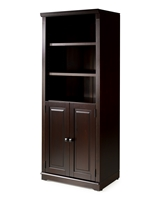 Newport Bookcase with Doors Cappuccino