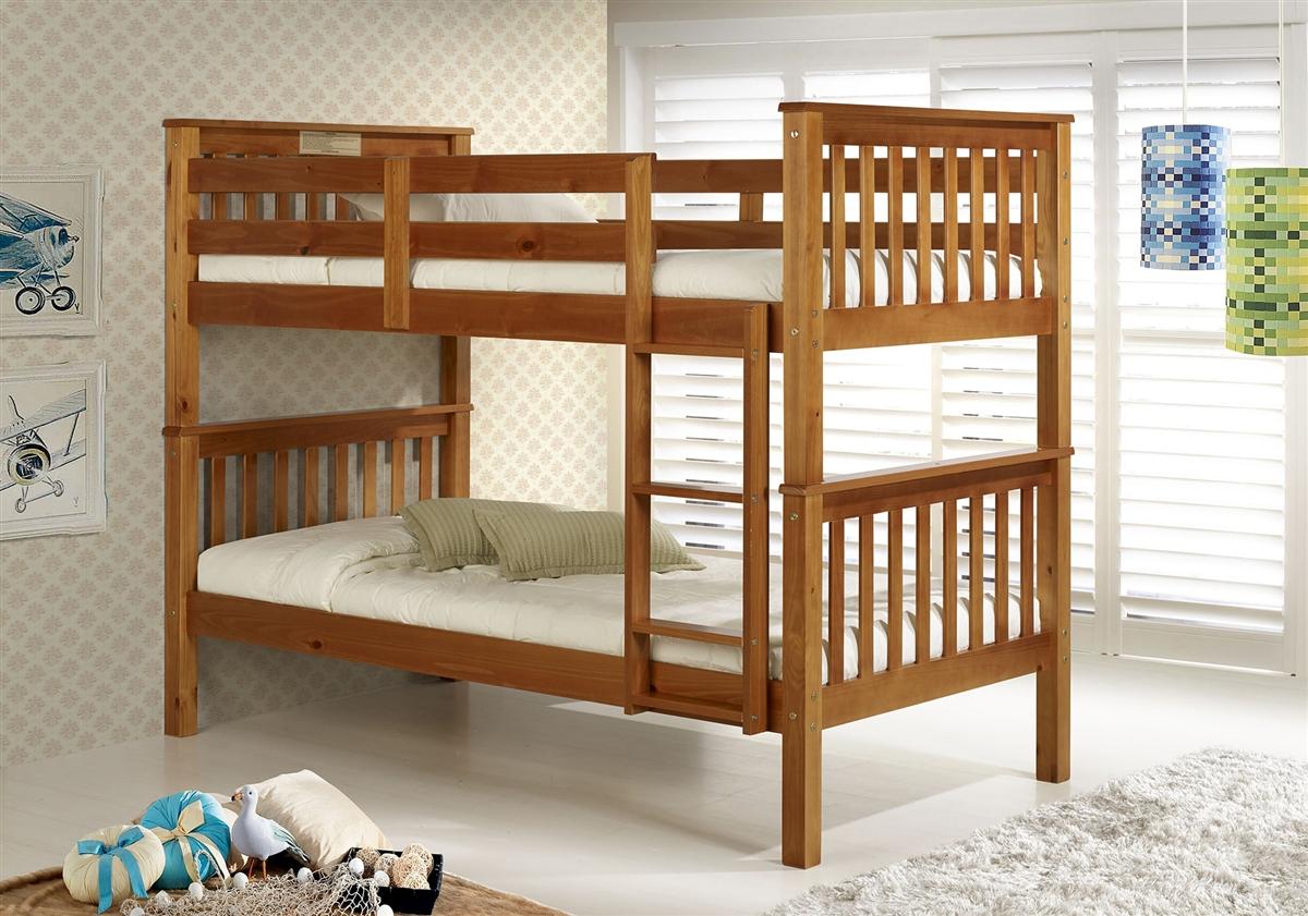 Santa Fe Mission Bunk Bed Twin Twin Chestnut Finish
