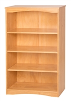 "Camaflexi Essentials Wooden Bookcase 48"" High - Natural Finish"
