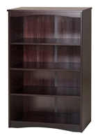 "Camaflexi Essentials Wooden Bookcase 48"" High - Cappuccino Finish"