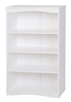 "Camaflexi Essentials Wooden Bookcase 48"" High - White Finish"