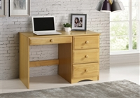 Camaflexi Essentials Writing Desk with Four Drawers - Natural Finish