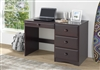 Camaflexi Essentials Writing Desk with Four Drawers - Cappuccino Finish