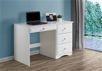 Camaflexi Essentials Writing Desk with Four Drawers - White Finish