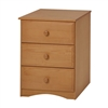 Essentials Three Drawer Narrow Chest - Natural Finish