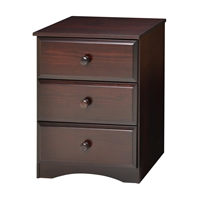 Essentials Three Drawer Narrow Chest - Cappuccino Finish