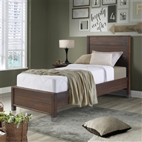 Platform Twin Bed Walnut