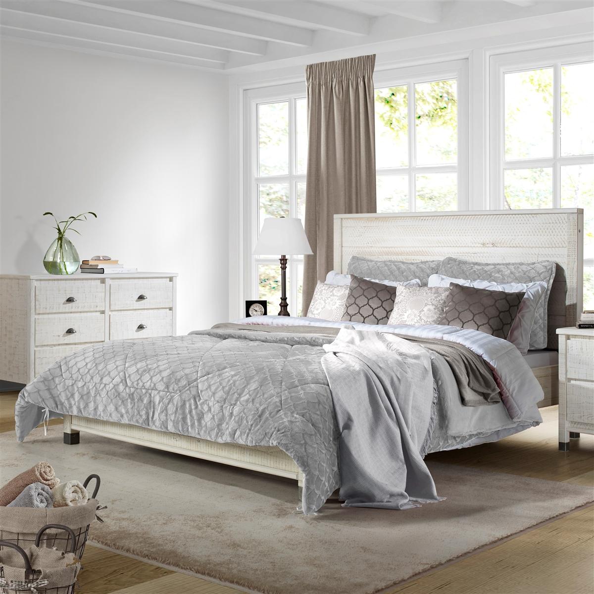 Platform Bed Full Size White