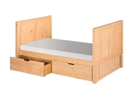 Camaflexi Twin Tall Platform Bed with Drawers
