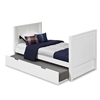 Camaflexi Twin Tall Platform Bed with Trundle