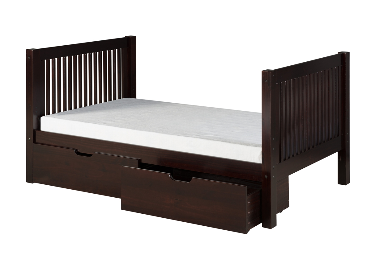 Camaflexi Full Size Platform Bed With Drawers Larger Photo