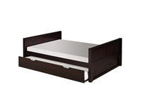 Camaflexi Full Size Platform Bed with Trundle