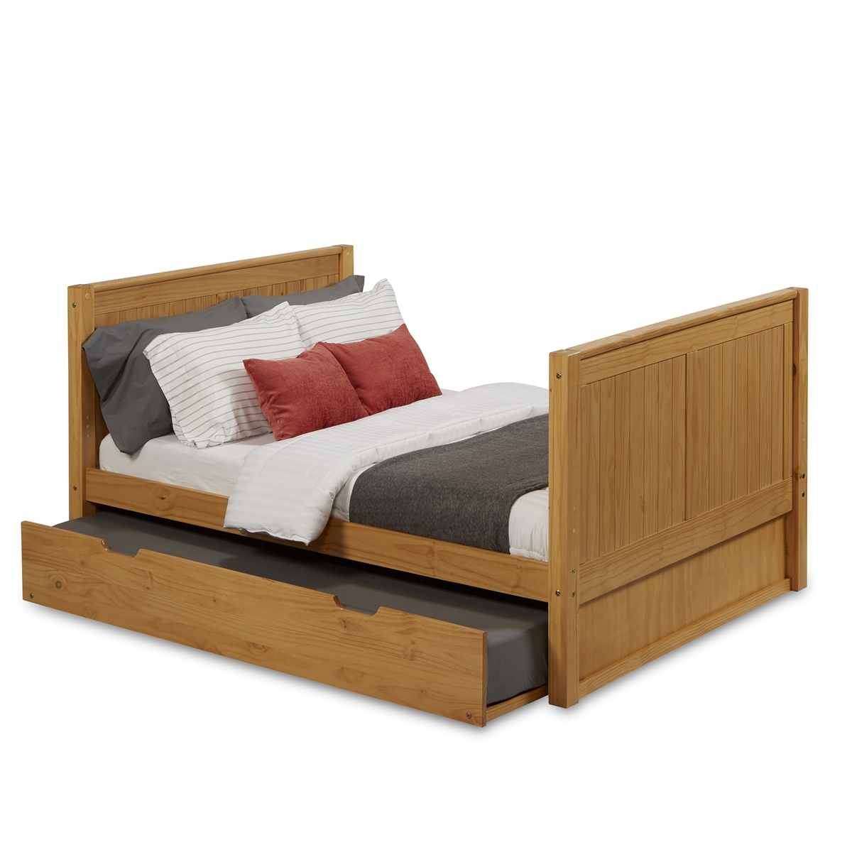 Full Size Platform Bed Tall Trundle Panel Clear