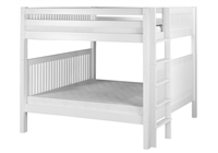 Camaflexi Full over Full Bunk Bed - Mission Headboard - Bed End Ladder - White Finish