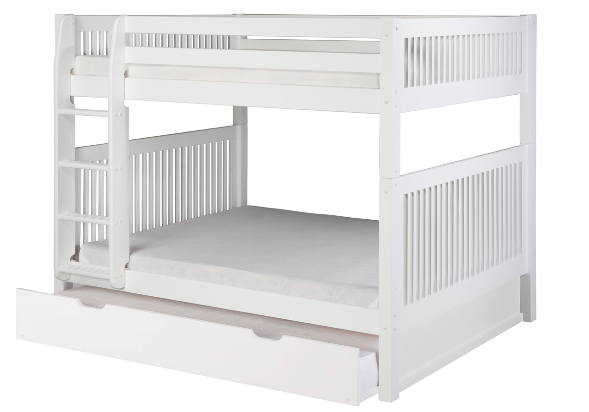 Picture of: Full On Full Bunk Bed Trundle Mission White