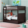 Camaflexi Full over Full Bunk Bed with Drawers