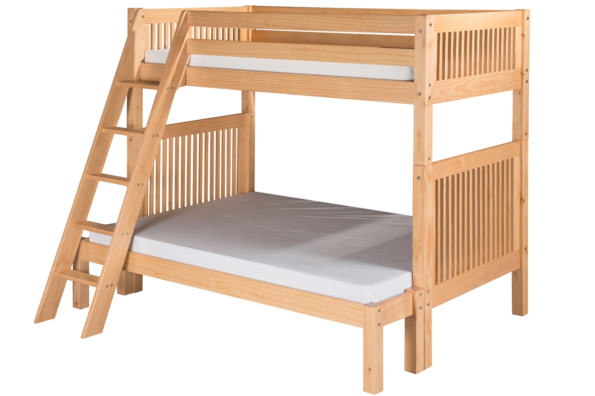 Twin On Full Bunk Bed Mission Angle Ladder Natural