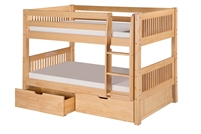 Camaflexi Low Bunk Bed with Drawers