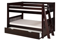 Camaflexi Low Bunk Bed Lateral Angle Ladder with Trundle
