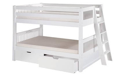 Camaflexi Low Bunk Bed Lateral Angle Ladder with Drawers