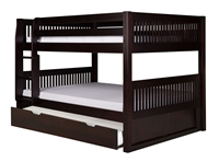 Camaflexi Full over Full Low Bunk Bed with Trundle