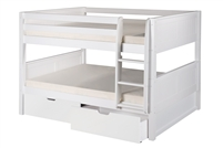 Camaflexi Full over Full Low Bunk Bed with Drawers