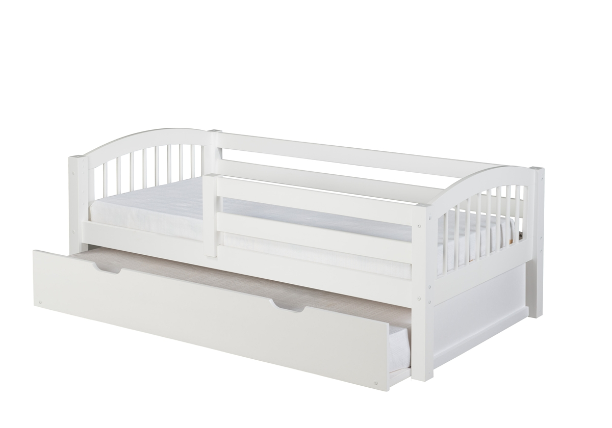 Day Bed Front Guard Rail Trundle Spindle White