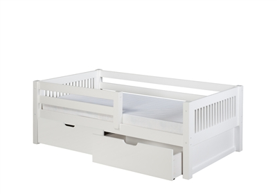 Camaflexi Day Bed with Front Guard Rail with Drawers