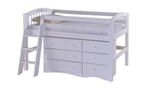 Camaflexi Low Loft Storage Bed