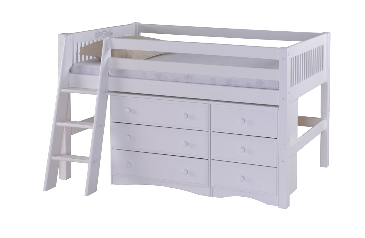 Camaflexi Low Loft Storage Bed Larger Photo