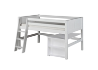 Camaflexi Low Loft Bed with Retractable Desk