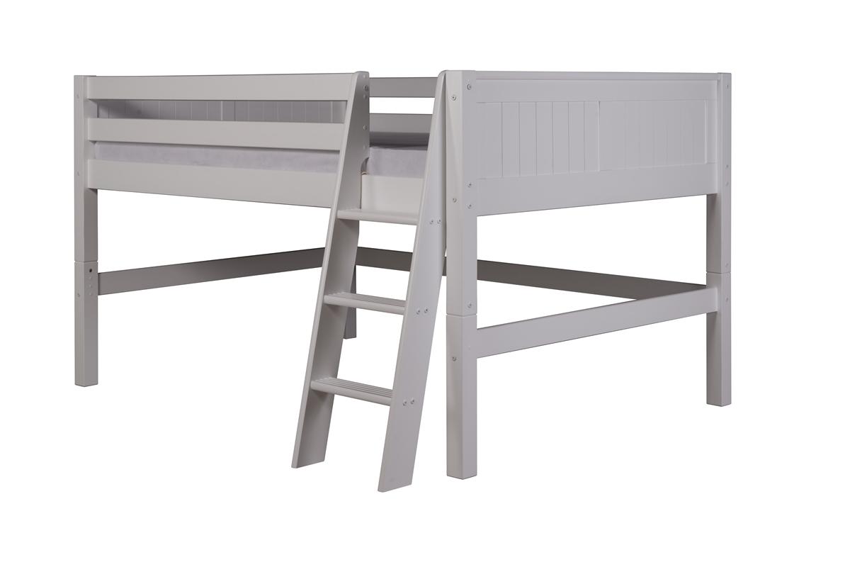 Camaflexi Full Low Loft Bed Panel Headboard White