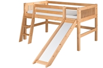 Camaflexi Low Loft Bed With Slide