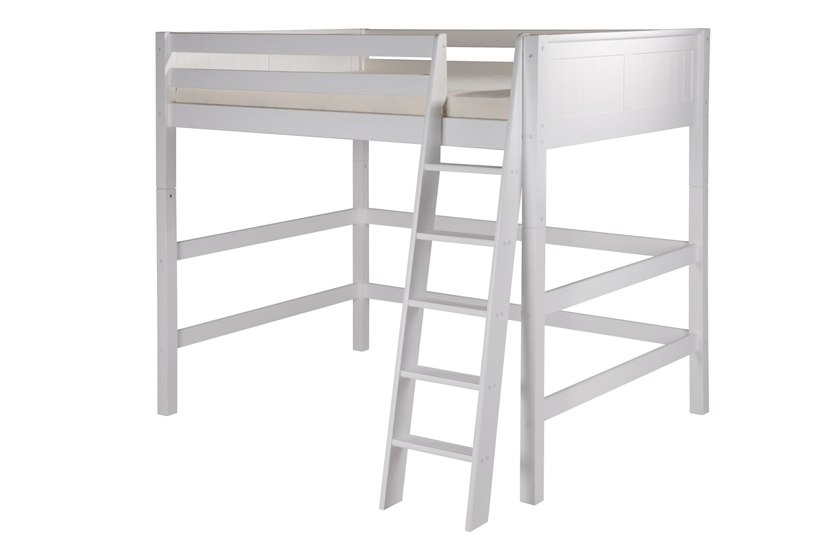 Picture of: Camaflexi Full High Loft Bed Panel Headboard White