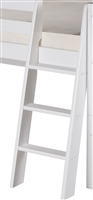 Angle Ladder for Low Loft Bed - White Finish