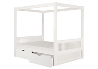 Camaflexi Canopy Bed with Drawers