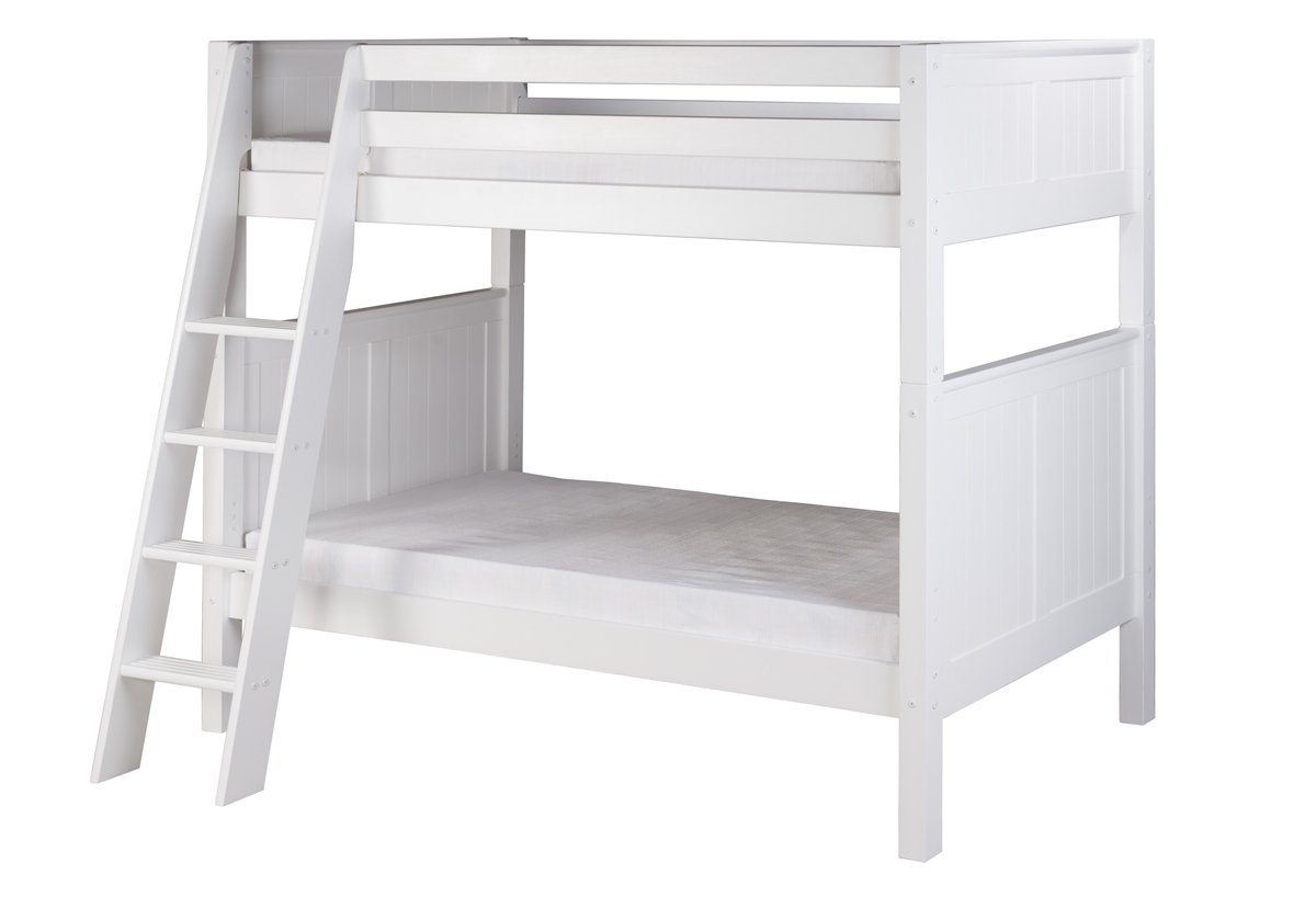 Design Bunk Bed Ladder bunk bed panel headboard angle ladder white camaflexi bed