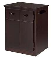 CPAP Night Stand - 2 Door - Cappuccino Finish