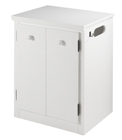 CPAP Night Stand - 2 Door - White Finish