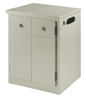 CPAP Night Stand - 2 Door - Grey Finish