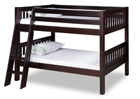Expanditure Low Bunk Bed - Angle Ladder - Mission Style - Cappuccino