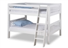 Expanditure Low Bunk Bed - Angle Ladder - Mission Style - White