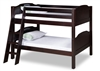 Expanditure Low Bunk Bed - Angle Ladder - Panel Style - Cappuccino