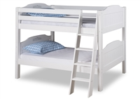 Expanditure Low Bunk Bed - Angle Ladder - Panel Style - White