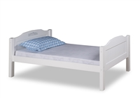 Expanditure Twin Bed With Twin Trundle - Panel Headboard - White