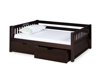 Expanditure Day Bed With Drawers- Mission Style - Cappuccino