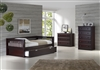 Expanditure Day Bed With Twin Trundle - Mission Style - Cappuccino