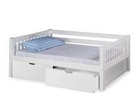 Expanditure Day Bed With Drawers - Mission Style - White