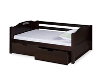 Expanditure Day Bed With Drawers - Panel Style - Cappuccino